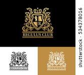 heraldic logo template. vintage ... | Shutterstock .eps vector #534378016