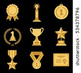 golden badge illustration.... | Shutterstock .eps vector #534378796
