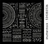 hand drawn textures and brushes.... | Shutterstock .eps vector #534383536