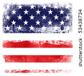 usa flag theme background... | Shutterstock . vector #53438734
