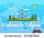 welcome to belgium poster with... | Shutterstock .eps vector #534387862