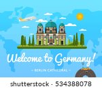 welcome to germany travel... | Shutterstock .eps vector #534388078