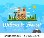 welcome to france travel poster ... | Shutterstock .eps vector #534388276