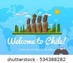 welcome to chile poster with... | Shutterstock .eps vector #534388282