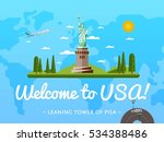 welcome to usa poster with... | Shutterstock .eps vector #534388486