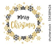merry christmas 2017 greeting... | Shutterstock .eps vector #534389626