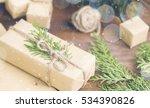 christmas gift in organic craft ...   Shutterstock . vector #534390826