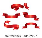 red ribbons | Shutterstock .eps vector #53439907