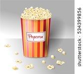 cup of popcorn.  | Shutterstock .eps vector #534399856