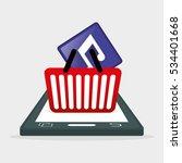 mobile music app shop vector...