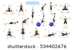 leg workout set on white... | Shutterstock .eps vector #534402676