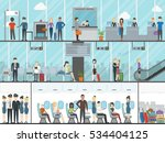 airport terminal set. business... | Shutterstock .eps vector #534404125