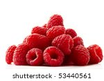 some red raspberries isolated... | Shutterstock . vector #53440561