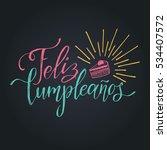 vector feliz cumpleanos ... | Shutterstock .eps vector #534407572