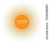 sunny circle halftone vector... | Shutterstock .eps vector #534408085
