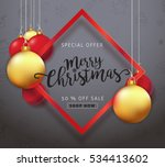 merry christmas sale background ... | Shutterstock .eps vector #534413602