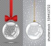 vector christmas glass ball on... | Shutterstock .eps vector #534413722