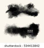 vector set of black brush... | Shutterstock .eps vector #534413842