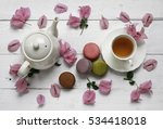 Closeup Of Cup Of Tea.flat Lay...