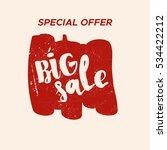 grunge color design big sale... | Shutterstock .eps vector #534422212