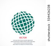 globe earth icon  flat design... | Shutterstock .eps vector #534426238