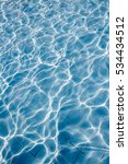 surface of swimming pool water... | Shutterstock . vector #534434512