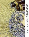 lavender essential oil in a... | Shutterstock . vector #534434848