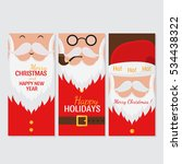 vector merry christmas and... | Shutterstock .eps vector #534438322