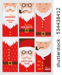 vector merry christmas and... | Shutterstock .eps vector #534438412