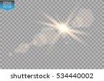vector transparent sunlight... | Shutterstock .eps vector #534440002