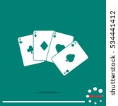 game cards icon | Shutterstock .eps vector #534441412