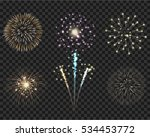 isolate colorful firework... | Shutterstock .eps vector #534453772
