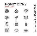 simple modern set of honey... | Shutterstock .eps vector #534455056