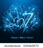 new year fireworks and confetti ... | Shutterstock .eps vector #534463972