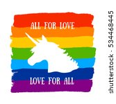all for love  love for all.... | Shutterstock .eps vector #534468445