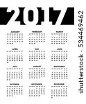 One Page Calendar 2017 In...