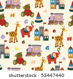 seamless baby background | Shutterstock .eps vector #53447440