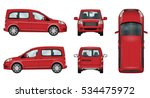 Red Car Vector Template....