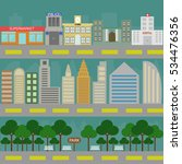 city life infographic. vector... | Shutterstock .eps vector #534476356