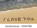 Love Message On Gold Sand ...