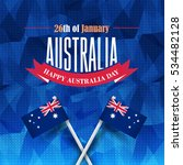 26 january happy australia day. ... | Shutterstock .eps vector #534482128