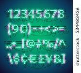 glowing double neon green... | Shutterstock .eps vector #534483436