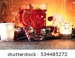 christmas grog orange cinnamon... | Shutterstock . vector #534485272