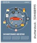 car maintenance and repair... | Shutterstock .eps vector #534488995
