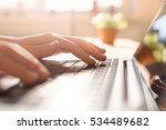 hands working on the computer... | Shutterstock . vector #534489682