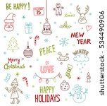 merry christmas and happy new... | Shutterstock .eps vector #534490906