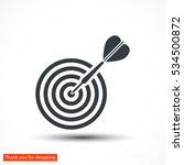 flat target with dart  . icon.... | Shutterstock .eps vector #534500872