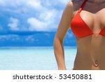 beautiful woman resting in... | Shutterstock . vector #53450881