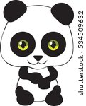 cartoon panda   vector... | Shutterstock .eps vector #534509632