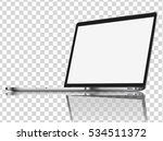 modern glossy laptop with... | Shutterstock .eps vector #534511372